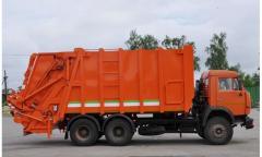 Мусоровоз Камаз-65115 с каркасным кузовом
