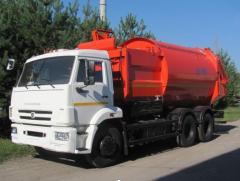 Мусоровоз Камаз, мусоровоз  КО-449-02с боковой