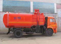 Мусоровоз Камаз, мусоровоз КО-449-19 с боковой