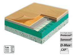 Modular floor covering from PVC
