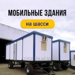 Module buildings for construction on wheels