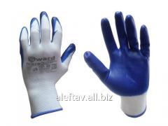 Перчатки плотные с залитым нитриловым...