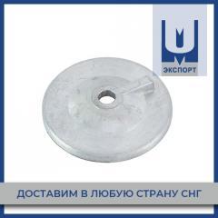 Анод цинковый 10х500х1000 мм Ц0