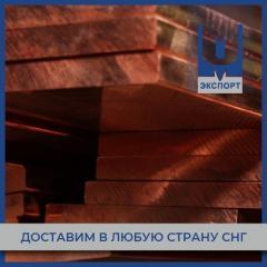 Плита медная 110x600х1500 мм М1 ГОСТ 1173-2006