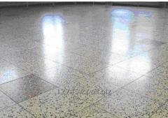 Floor decorative mosaic tile of terrazzo from a