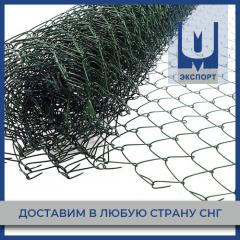 Сетка плетеная рабица с полимерным покрытием ПВХ