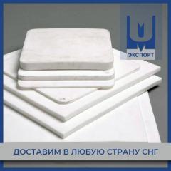 Фторопласт первичный 10х500х500 мм ТУ 6-05-810-88