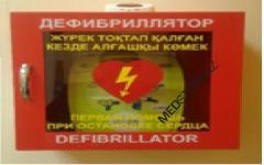 Шкаф-бокс настенный для хранения Дефибриллятора