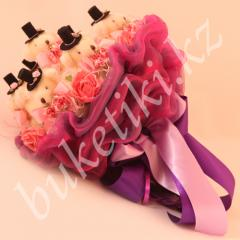 """Bouquet from the soft toys """"From Hear"""