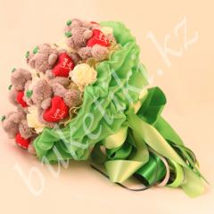 """Bouquet from soft toys of Teddie """"Charm"""