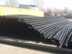 Pipes are polyethylene cable