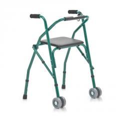 Ходунки складные с 2 колесиками и сиденьем...