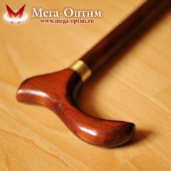 Деревянная трость с деревянной ручкой и зимним выдвижным штырем (75, 80, 85, 90, 95 см)