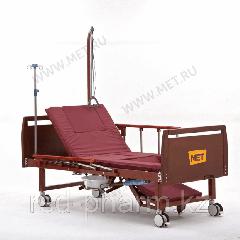MET EMET Кровать функциональная медицинская с электроприводом, с положением кардиокресло, с туалетом