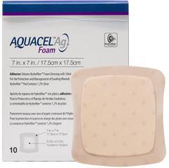 Аквасель Фоум с серебром с силиконовым адгезивом (Aquacel Foam Ag, adh) 17,5 х17,5 см