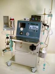 Аппарат ИВЛ во время наркоза или реанимации с электронным таблоРО-6-06 мод.574