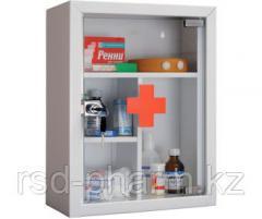 Аптечка металлическая со стеклянной дверцью AMD-G