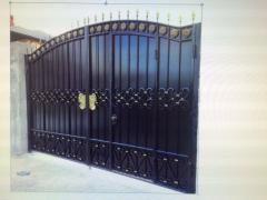 Ворота металлические кованные