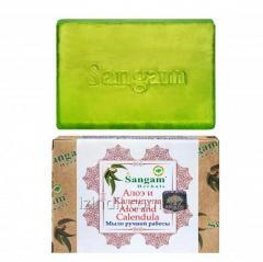 Мыло с глицерином «Алоэ и календула» Sangam...