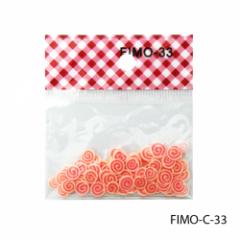 FIMO-C-33Фигурки FIMO в форме оранжево-красных
