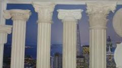 Columns are plaster
