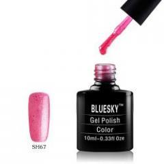 Гель-лак «Bluesky» SH067 П/прозрачный розовый с