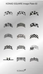 Пластина Square Plate - 2 (15 дизайнов) Konad