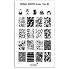 Пластина Square Plate - 8 (21 дизайн) Konad