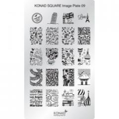 Пластина Square Plate - 9 (20 дизайнов) Konad