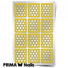 Трафарет для дизайна ногтей PRIMA Nails. Пчелиные