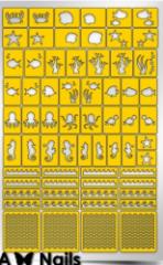 Трафарет для дизайна ногтей PRIMA Nails. Морское