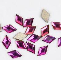Фигурные стразы стекло ROUMB Pink 50шт. (3х5мм)