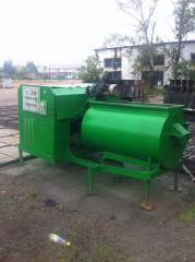 Equipment for production of foam concrete blocks,