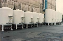 The cryogenic equipment, tanks storages for the