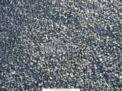 Crushed stone for a bed of a railway track