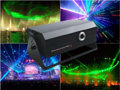 Laser show systems, projectors