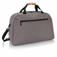 Дорожная сумка Fashion duo tone, серый, Длина 27