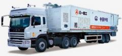 The semi-trailer for transportation of asphalt