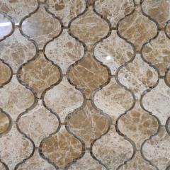Бежевая арабеска мозаика из мрамора DRS002