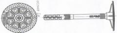 """Держатель теплоизоляции с пластиковым стержнем """"нурмакс"""" (зонтик), размер 10х70"""
