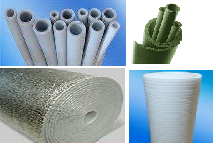 Insulating tubes, cores, PE-FLEKS