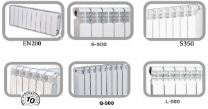 Radiators, Aluminium and bimetallic radiators of