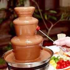 Milk chocolate for the chocolate fountain