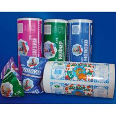 Film for packing of dairy products