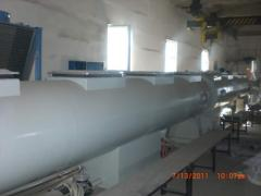Production of a pipe polyethylene for water - and