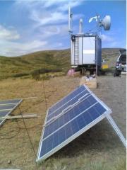 Панели солнечные поликристаллические,