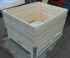 Box for apples, the container for storage of