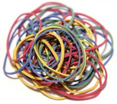 The elastic band is office (bank) kilogram