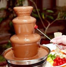 Dark chocolate, milk chocolate for fountains