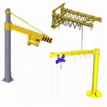 Electric bracket crane, manual